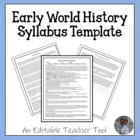 World History or World Studies Syllabus (General Level Classes)