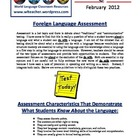 World Language Classroom Teaching Activities (02/2012)