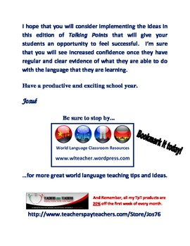 World Language Classroom Teaching Activities (BTS 2011)