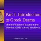World Literature - Greek Drama Lecture Notes. Quiz, and St