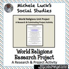 World Religions Unit Project - AP World History Foundations