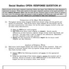 World Religions Unit Test - KCCT M/C + Open Response Questions