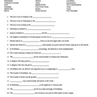 World Religions Vocabulary Worksheet