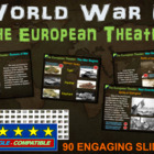 World War 2 (WWII) EUROPEAN THEATER 90-slide PPT w/ note h