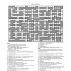 World War I Crossword Puzzle