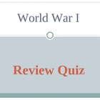World War I Review Quiz for middle school-remedial high school
