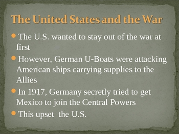 World War I ppt for middle school-remedial high school
