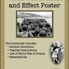 World War II Cause and Effect Poster