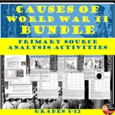 World War II Causes – Primary Source Analysis BUNDLE