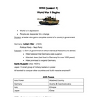 World War II Notes and Assessment
