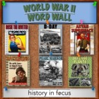 World War II Word Wall - Colorful Printable for Decorating