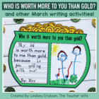 Worth More Than Gold {A Writing Craftivity}