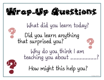 Wrap-Up Questions Poster