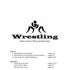 Wrestling Mini-unit for Physical Education