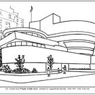 Wright.  Guggenheim Museum.  Coloring page and lesson plan ideas