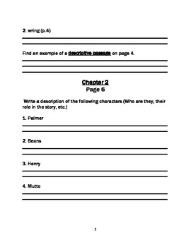 Wringer - Guided Reading Student Comprehension Packet