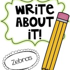 Write About It! Zebras
