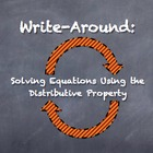 """Write-Around"" Solving Equations Distributive Property ENG"