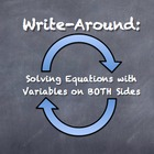 """Write-Around"" Solving Equations Variables Both Sides ENGA"