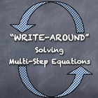 """Write-Around"" Solving Multi-Step Equations Various ENGAGE"