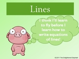 Write Equations of Lines Powerpoint
