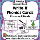 Write It- Consonant Blends Phonics Cards