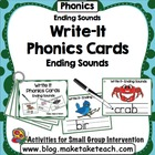 Write It- Phonics Cards for Ending Sounds