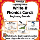 Write-It Phonics Cards for Beginning Sounds