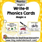 Write- It Phonics Cards for Magic e