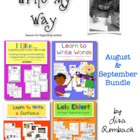 Write My Way... lessons for beginning writers  August Sept