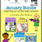 Write My Way lessons for beginning writers  JANUARY Bundle