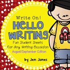 "Write On! Hello Writing: Fun Sheets for ""Working on Writin"
