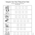 Write The Room - Kindergarten Action Words