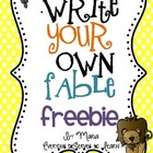 Write Your Own Fable Freebie