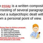 Write an Essay Lesson 1  -  Power Point