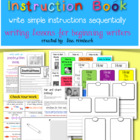Write an Instruction Book Lesson for beginning writers