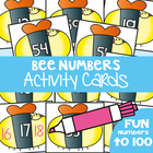 Write and Wipe Cards - Bee Numbers - Numbers Before And After