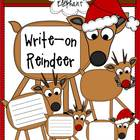 Write-on Reindeer Clip Art