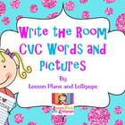 Write the Room CVC Words and Pictures