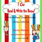 Write the Room Literacy Center - I Can Read and Write the