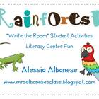 Write the Room Literacy Center - Rainforest