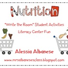 Write the Room Literacy Center Student Activities - Nutrition