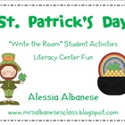 Write the Room Literacy Center Student Activities - St. Pa