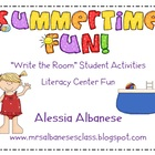 Write the Room Literacy Center - Summertime Fun!