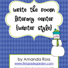 Write the Room Literacy Center {Winter Style}
