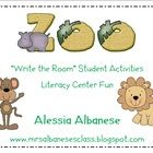 Write the Room Literacy Center - Zoo Theme