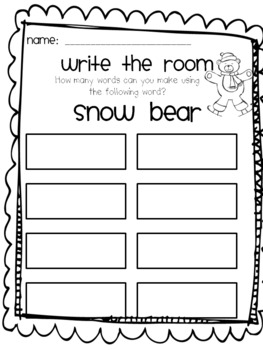 Write the Room- Penguin and Snow bear