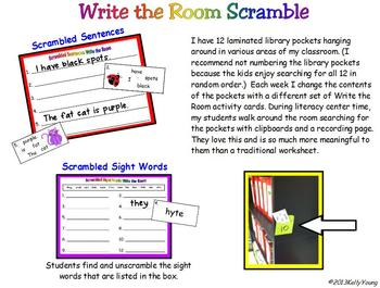 Write the Room Scramble