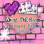Write the Room Sight Words {Valentine Theme}