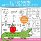 Phonics / Alphabet - Write the Word - Letter Sound Worksheets